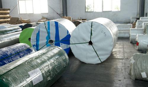 PVC输送带卷料仓库